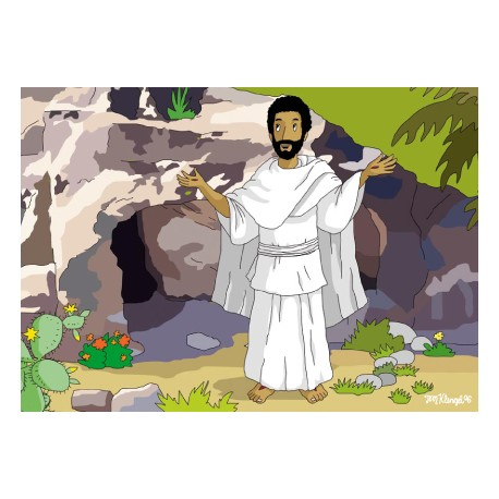 "Oster-Postkarte ""Der auferstandene Jesus"""
