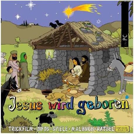 Jesus wird geboren, interaktives Zeichentrick
