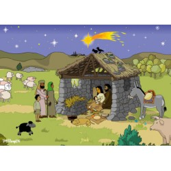"""Weihnachts-Postkarte """"Die Weihnachtskrippe"""""""