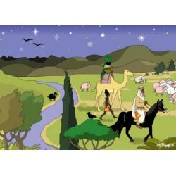 """Weihnachts-Postkarte """"Der Besuch der Weisen aus dem Osten"""""""