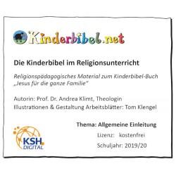 Kinderbibel im Religionsunterricht, gratis Einleitung