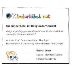 Kinderbibel-Arbeitsblätter zum Thema Gebet
