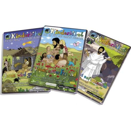 """Set CD-ROMs """"Das Leben Jesu"""", interaktive Zeichentrick- und Hörbibel"""
