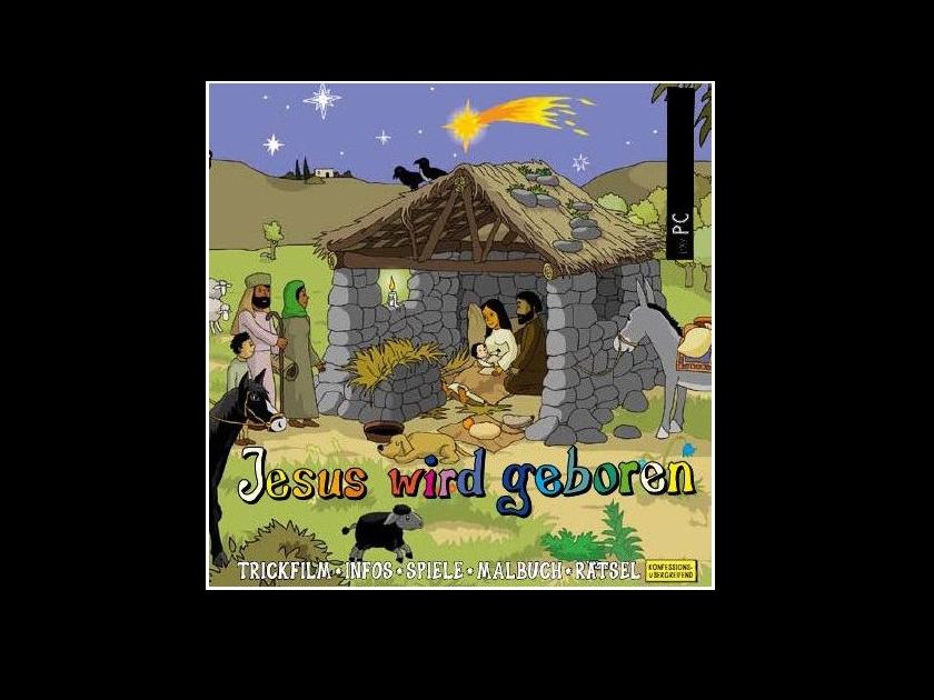 Kinderbibel Download für PC Jesus wird geboren, interaktive Zeichentrick-Bibel
