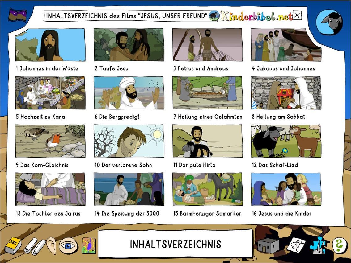 Inhalt des Zeichentricks Jesus unser Freund